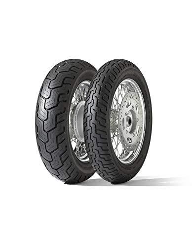 Dunlop D404–80/90 R21 48h – A/A/70 DB – Pneu de moto