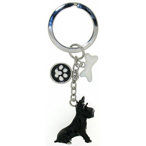Derby Schlüsselanhänger Hund Scottish Terrier mit Knochen 02465 -