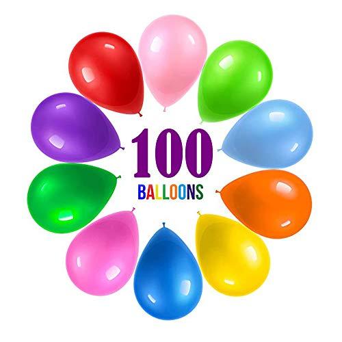 Partei liefert Bevorzugungen für Kinder, Partei-Ballone Regenbogen-Satz (100 Satz) sortierte farbige Partei-Ballone Massenkarnevals-Preis-Kasten für Kinder Massen für Geburtstags-Hochzeits-Feier