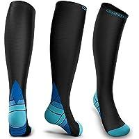 medicale calze a compressione per uomini e donne 20-30 mmHg viaggi in volo ideali per corsa sport gravidanza 6 paia ACTINPUT