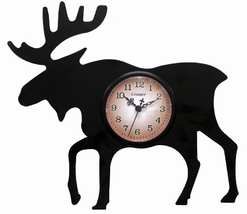 Chaney 75143Elch Silhouette Uhr -