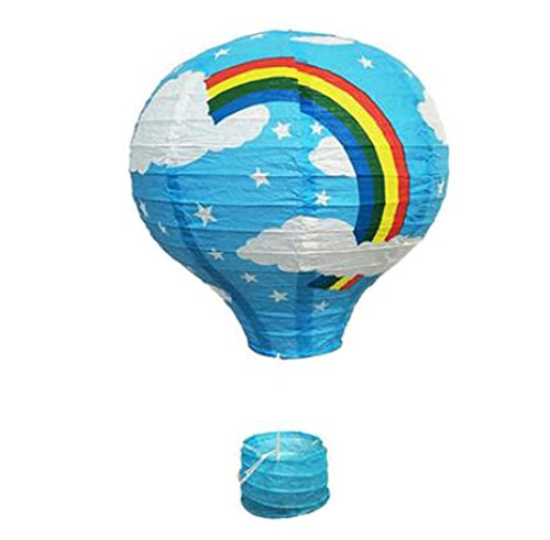 (Black Temptation Geburtstagsparty/Weihnachten/Ostern/Mall Dekoration hängen Papier Laterne Heißluftballon 30cm(Blau))