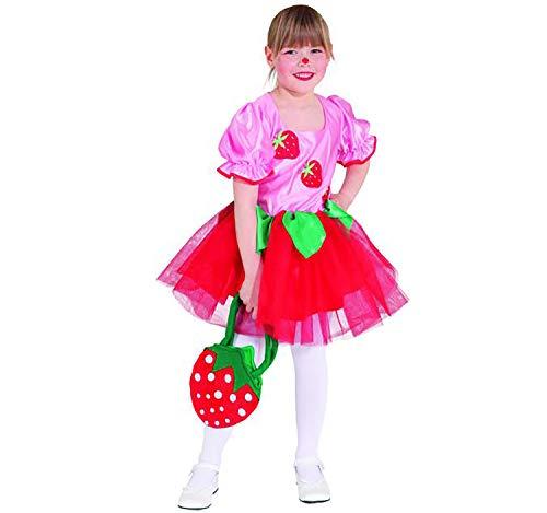 Kostüm Erdbeermädchen Gr. 128 Kleid Erdbeer-Fee Karneval Fasching Karneval (Freche Fee Kostüm)