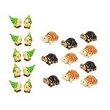 Sharplace Miniatura de Bonsai Ornamentos de Deco Patio Frontones Decorativos de Exteriores Camino Paisaje Loro + Tortuga