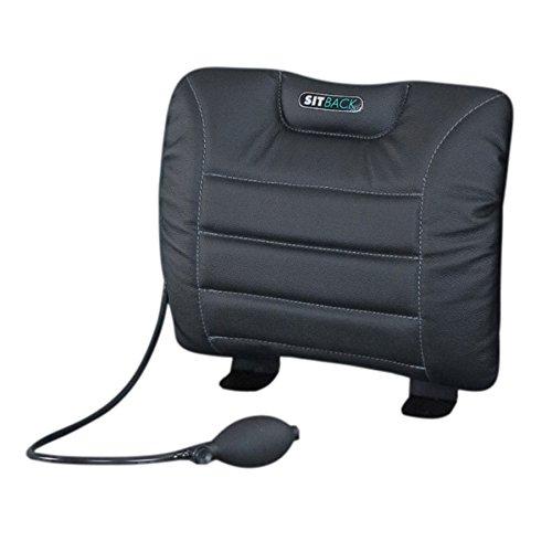 Sit-Back Air Rückenstützkissen Leder schwarz
