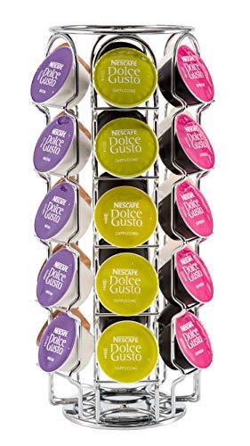 Babavoom® - Portacialde Dolce Gusto, per 30 cialde di caffè, in acciaio INOX con finitura cromata