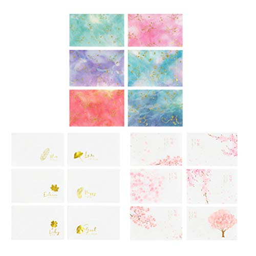 Toyvian Kit Umschlag Brief Gold Grußkarte Schöne Muster Schreibwaren Umschläge 18 Sätze (Sakura Tree + Leaf + Constellation, 6 für jeden) -