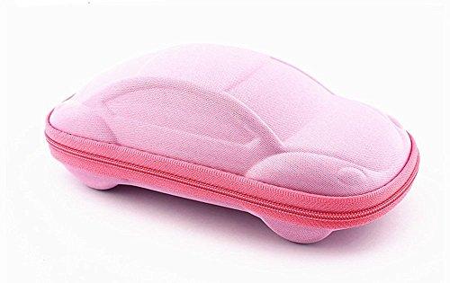 Toruiwa–astuccio per occhiali scatola di archiviazione in forma di auto per occhiali di bambino, rose, 165*75*48mm