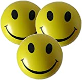 3 x Stress Balls in Yellow by StressCHECK - Sensory Toys - Squeezy Ball for ADHD and Autism
