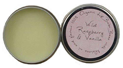 Lippenbalsam (LIP BALM) WILDE HIMBEERE & VANILLE (WILD RASPBERRY & VANILLA) auf natürlicher Basis 10ml mit Melissenöl zur Bekämpfung von Lippenherpes - Lips Himbeere