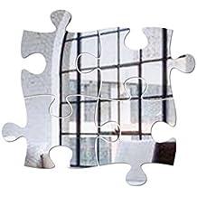 a18621242e410b YIFANFENGSHUN Wandsticker Acryl Spiegel Beiträge Bausteine Puzzles  Hintergrund Aufkleber Dekorative Wandaufkleber Abnehmbar Selbstklebend,