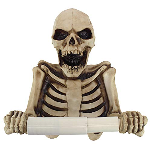 Toilettenpapierhalter - Knochen Dry Skelett Badezimmer-Dekor - Toilettenpapier-Rolle - Badezimmer-Wand-Dekor (Bag Designs Paper Halloween)
