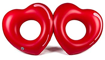 Bigmouth Inc Giant Double Hearts Pool Float 3