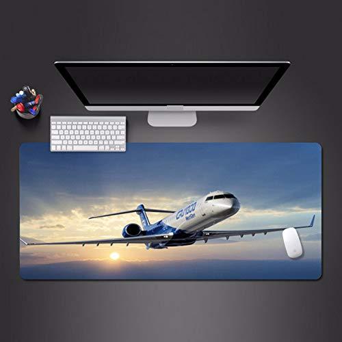 Pink Mauspad Flugzeug bei Sonnenuntergang Qualität Mauspad Spieler Büro Pad waschbar große Mauspad 900 * 400 * 3mm