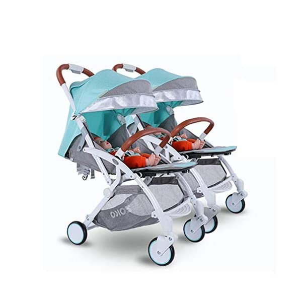 ZhiGe Pushchair Twin Baby Stroller can be Laid Down Foldable Dragon Tire can be Split Baby Stroller Double car ZhiGe Light city stroller Ideal for a daily life with bus or train Compact folding size 1