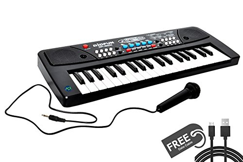 ToykartTM LATEST 37 Key Piano Keyboard Toy for kids DC POWER OPTION + RECORDING + MICROPHONE + FREE DATA CABLE*