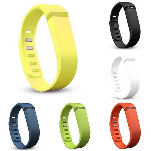 Huhuswwbin Fitness Tracker, Willful Orologio Fitness Cinturino di Ricambio Cinturino Cinturino per Fitbit Flex Bracciale Classico Fibbia - Arancione L