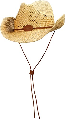 normani Cowboy Strohhut mit braunem Hutband Farbe Vintage Größe 55-57