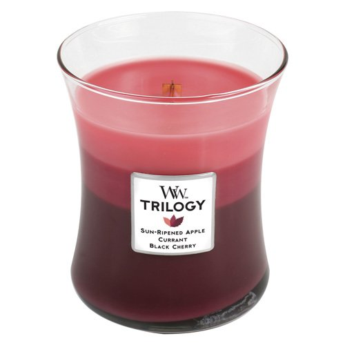 Blanco 9.9x9.8x11.6 cm Color Rojo Woodwick El Hogar Vela arom/ática en Tarro Medio