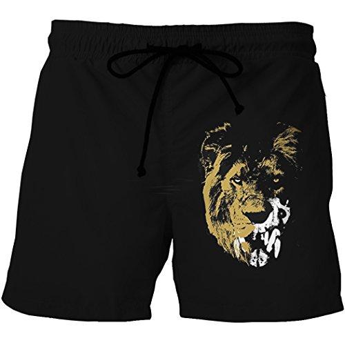 XueXian(TM) Homme Shorts Plage Confortable Casual avoir Dessin pour Eté en Polyester Couleur1