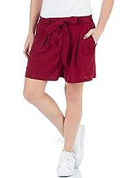 498f407ed42ba9 Malucas Damen High Waist Business Shorts Bermuda Kurze Hose Sommerhose  Pants 00443