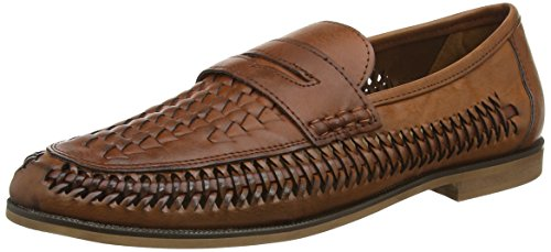 New Look Men's Chigwell Weaved Loafers, Brown (Mocha), 9 UK 43 EU