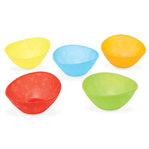 Munchkin Multi-coloured Baby Food Bowls – Pack of 5 41KAqqN8kEL