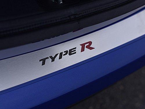 Edelstahl Ladekantenschutz für Civic Type R IV FK2-1 Stück Außenausstattung Aussen Platte Edelstahl Gebürstet Blenden Cockpit Dekor Mass Angefertigt