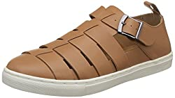 Carlton London Mens Paulo Tan Leather Loafers and Moccasins - 8 UK/India (42 EU)