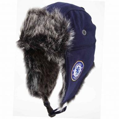 Offizielles Chelsea FC-Wappen (Kunstfell) Trapper Hat