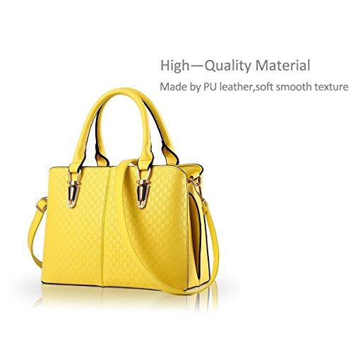 Die hersteller im Großhandel neUe handtaschen Taschen einfarbig Schulter schräg über die dame Ballen eine Generation von Fett 901 Gelb