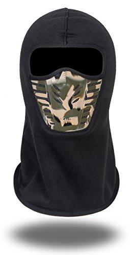 Erwachsenen Fleece Greifen Sturmhauben Volle Gesicht Cover Radfahren Winddicht Ski Maske Hut - Schwarz2 (Maske Sturmhaube Ski)