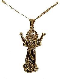 0bb26babe1e5 Diamantados de Florida Divino Niño Jesús Medalla - Medalla niño Cristo 18 K  Chapado en Oro