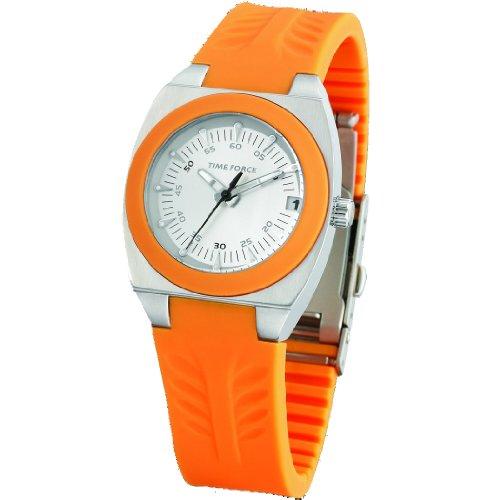 TIME FORCE TF-2929L10 - Orologio da polso, cinturino in caucciù colore arancione