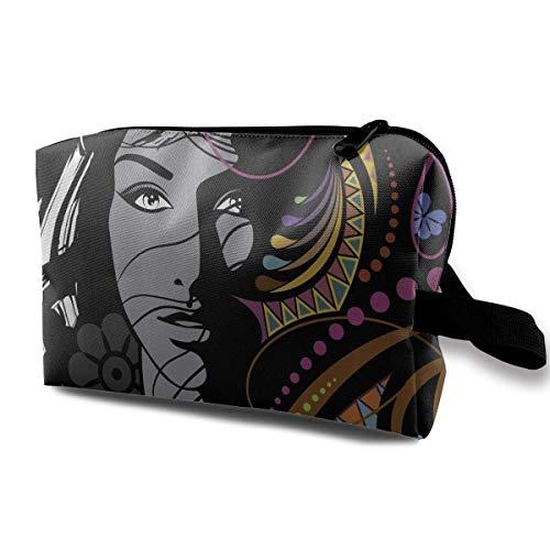 Reise-hängende Kosmetiktaschen Woman Floral Geometric Ornaments Multi-Functional Toiletry Makeup Organizer hanging cosmetic bag -
