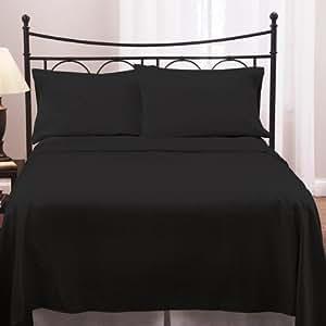 300 TC 1 PC Duvet Cover Solid Black Double Size 100% Cotton