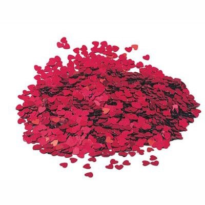 14g Red Heart table confetti - Fabulous Red Sparkle heart wedding party table confetti by Love / Valentine width=