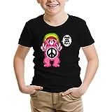 T-Shirt Enfant Noir Bisounours parodique Bisounours : Peace and Love Man - Reggae Version (Parodie Bisounours)