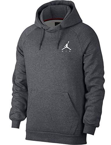 Nike Herren Jumpman PO Jacke, Carbon Heather/White, S -