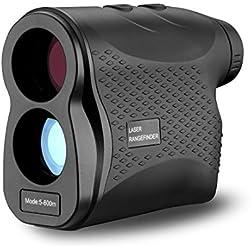 DEKO Telémetro de Golf - 600m Telémetro láser para Golf, Caza, Escalada en Roca al Aire Libre,6X Aumento,Buscador de Rango láser con Niebla, escaneo, medición de Velocidad