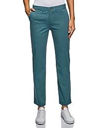 e6d3165b26 oodji Ultra Mujer Pantalones Chinos de Algodón