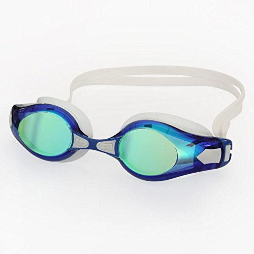 Sunny HONEY Schwimmen-Schutzbrillen-Spiegel-Ende Mit UV- Und Antinebelschutz-Schwimmen-Schutzbrille Für AdultsJuniors  Indoor Und Outdoor Inklusive TriathlonTraining (Farbe : Blau)