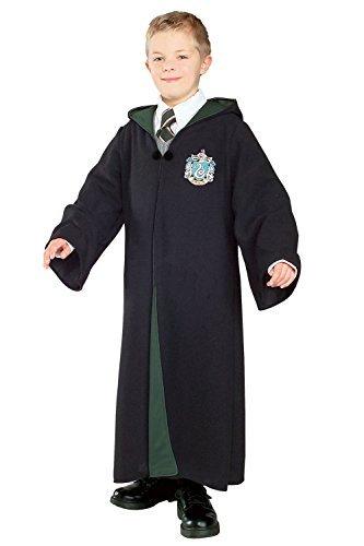 Mädchen Jungen Harry Potter Hermine Grainger Deluxe Kapuzen-bademantel Büchertag Halloween Kostüm Kleid Outfit - Slytherin, 3-4 Years (Slytherin Kostüm Zubehör)