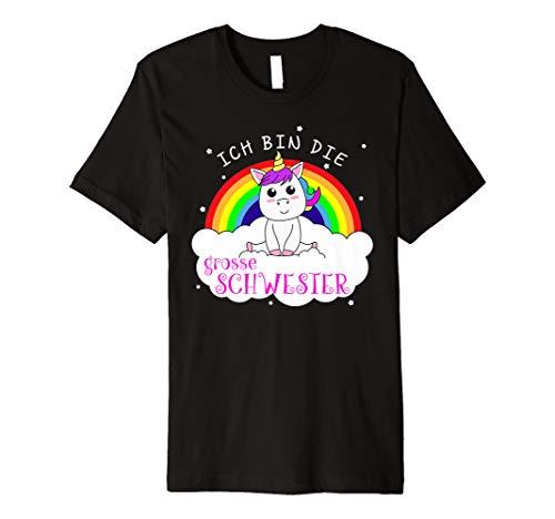 Grosse Schwester Frauen T-shirt (Ich Bin Die Große Schwester Einhorn T-Shirt)