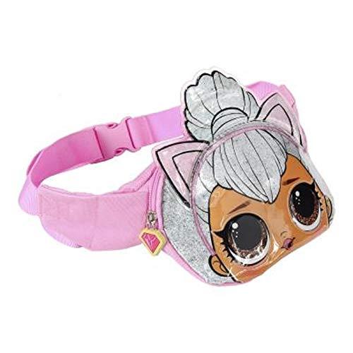 Kitty Mode-taschen (L.O.L. Surprise ! 3D Puppen Hüfttasche für Mädchen und Jugendliche | Confetti-Pop-Kollektion mit Queen Bee, Merbaby, Kitty Queen und Unicorn | Handliche Gürteltaschen oder Schultasche (Katze))