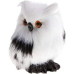 Homyl Mini Plüsch Eule Vogel Figur Dekofigur Gartenfigur Gartendeko Zaundeko Baum Balkon Deko - Links