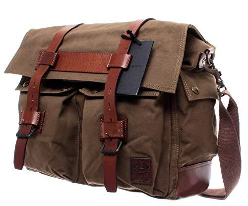 d65b0d7e08 Belstaff Borsa Tracolla Uomo 75610375 Colonial Messenger Mountain Brown  Canvas