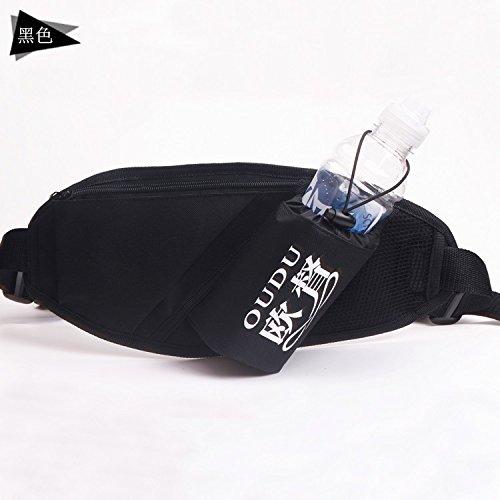 KANG@ Sport Taille Pack Multifunktions Running Männer und Frauen Outdoor Handy Tasche Anti-Diebstahl intime Stealth wasserdicht Beutel Schwarz