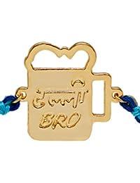 Pipa Bella Rakhi Collection Bangle for Men (Golden) (O-JY19RA0019960)