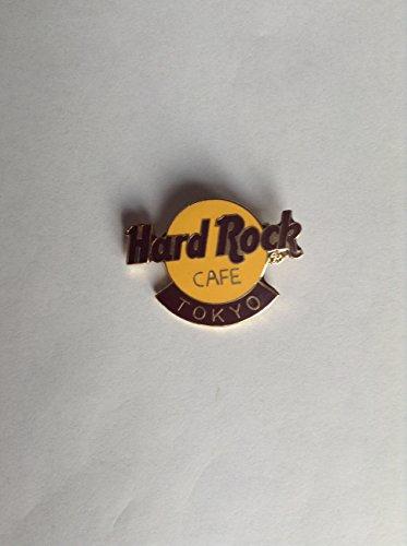 tokyo-japan-classic-brown-on-orange-hard-rock-cafe-pin-vintage-collectibile-b7-279
